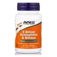 8 BILLION ACIDOFILUS & BIFIDUS - 60 VEG CAPS