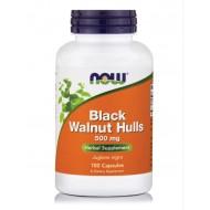 BLACK WALNUT HULLS 500MG - 100CAPS