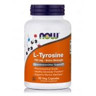 L-TYROSINE 750 MG, NON-GMO, VEGAN   90 CAPSULES
